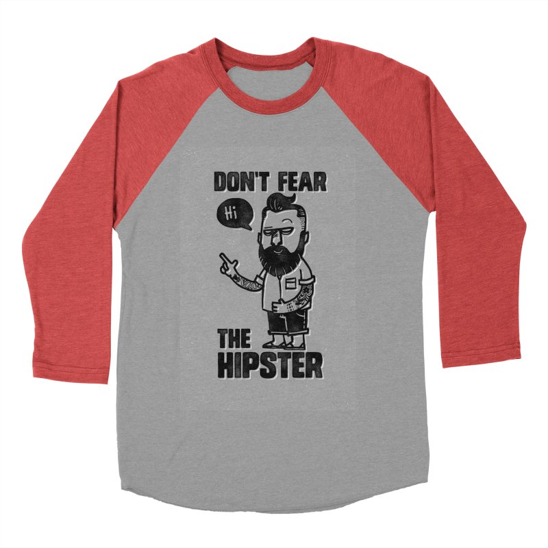 Don't Fear The Hipster Men's Baseball Triblend T-Shirt by scribblekid's Artist Shop