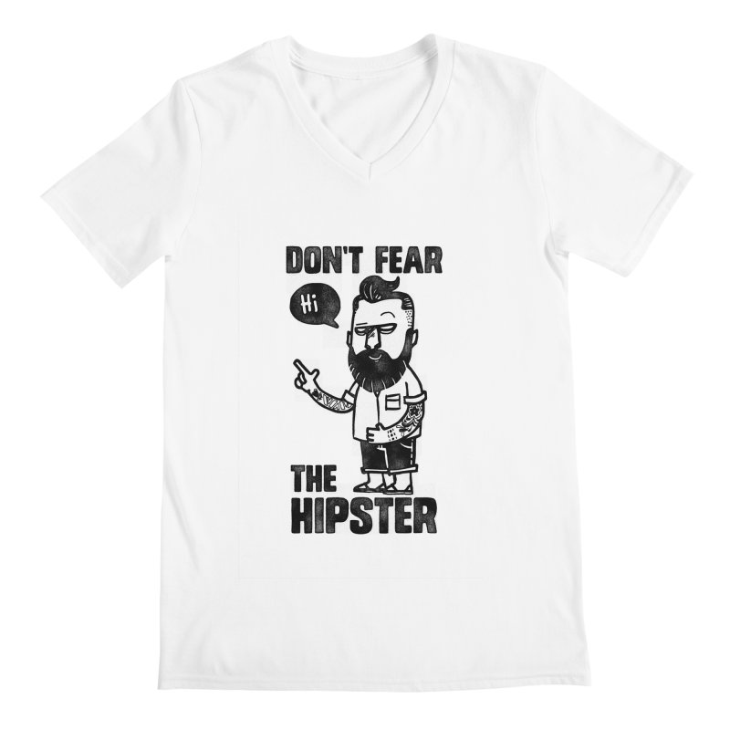 Don't Fear The Hipster Men's V-Neck by scribblekid's Artist Shop