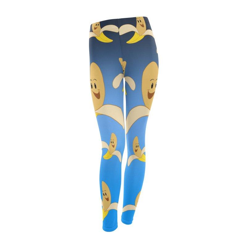 B A N A N A S in Women's Leggings Bottoms by Scrib Creative's Artist Shop