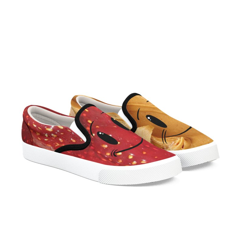 Peanut Butter... And Jelly in Men's Slip-On Shoes by Scrib Creative's Artist Shop