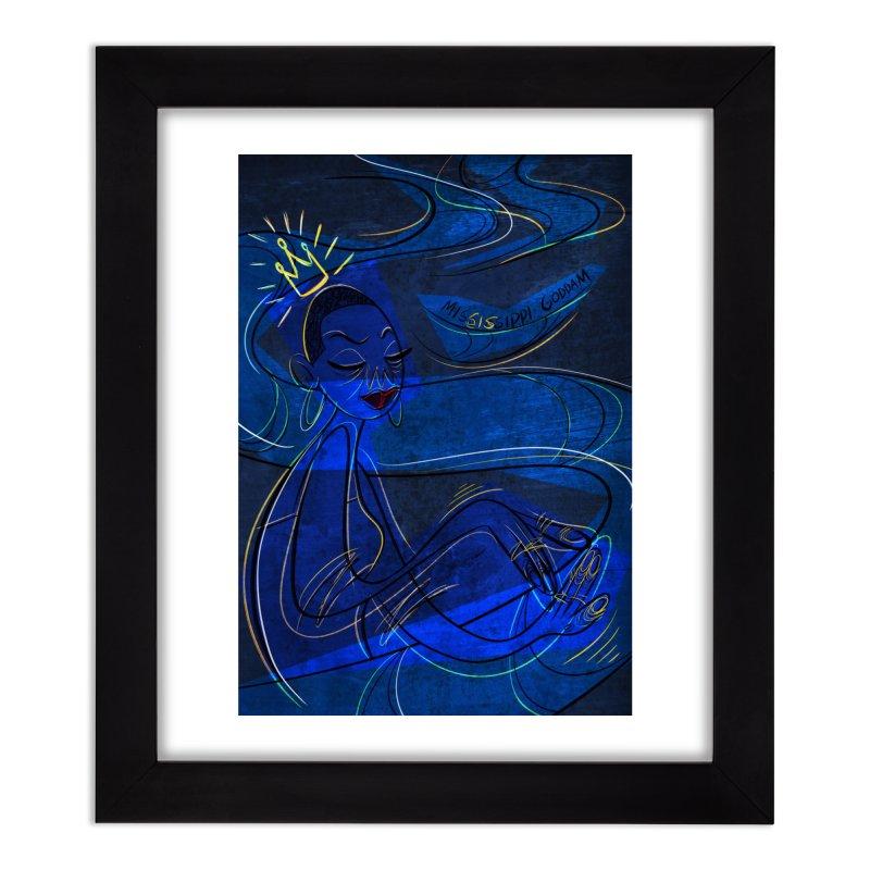NINA Home Framed Fine Art Print by Scrib Creative's Artist Shop