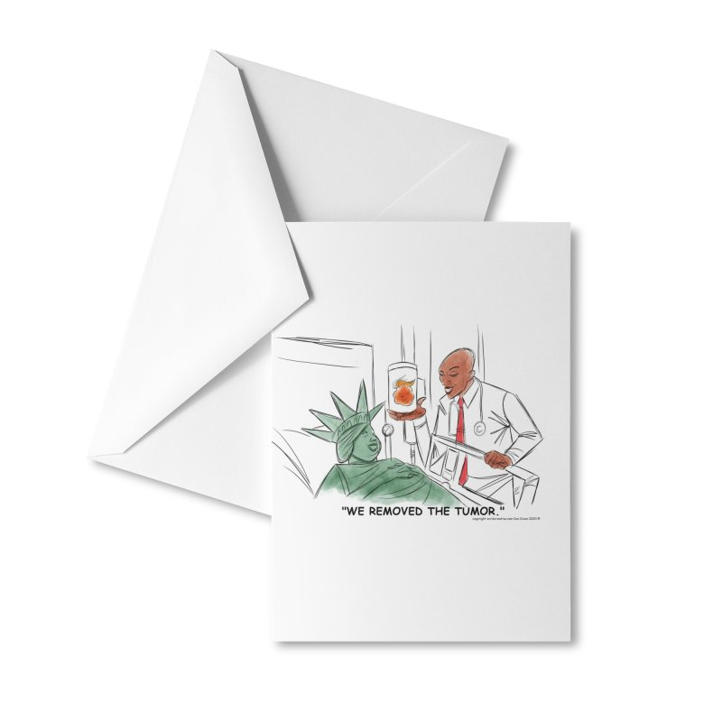WE REMOVED THE TUMOR ( INAUGURATION CARDS ) Accessories Greeting Card by Scrib Creative's Artist Shop