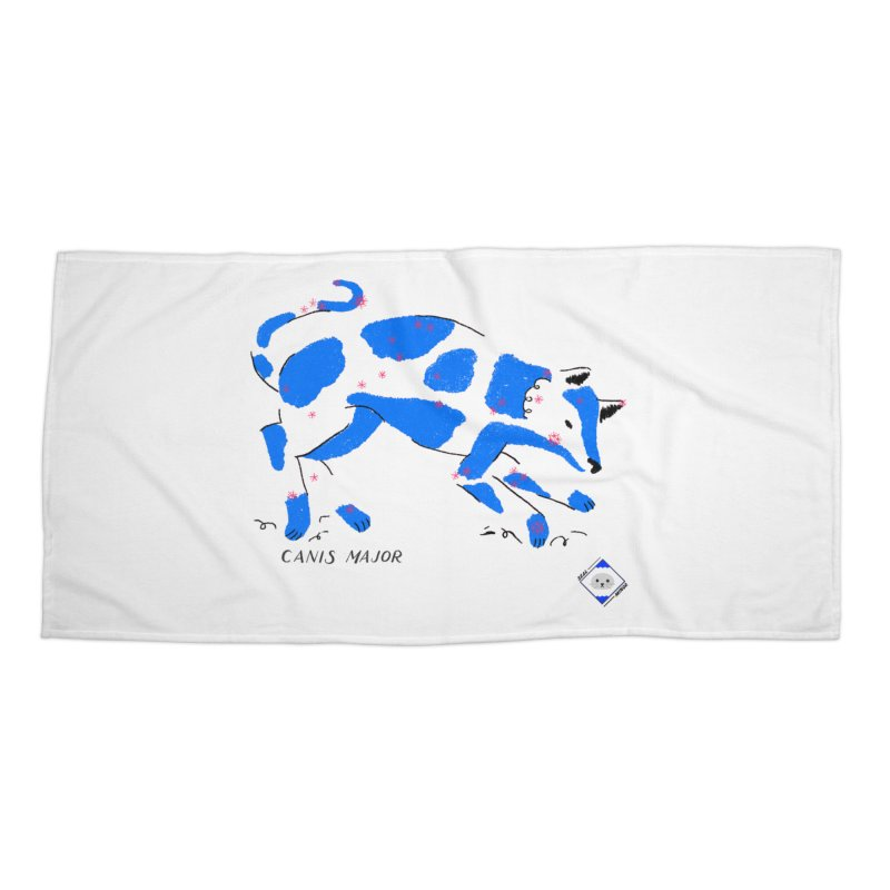 Canis Major Accessories Beach Towel by scriptandseal's Artist Shop