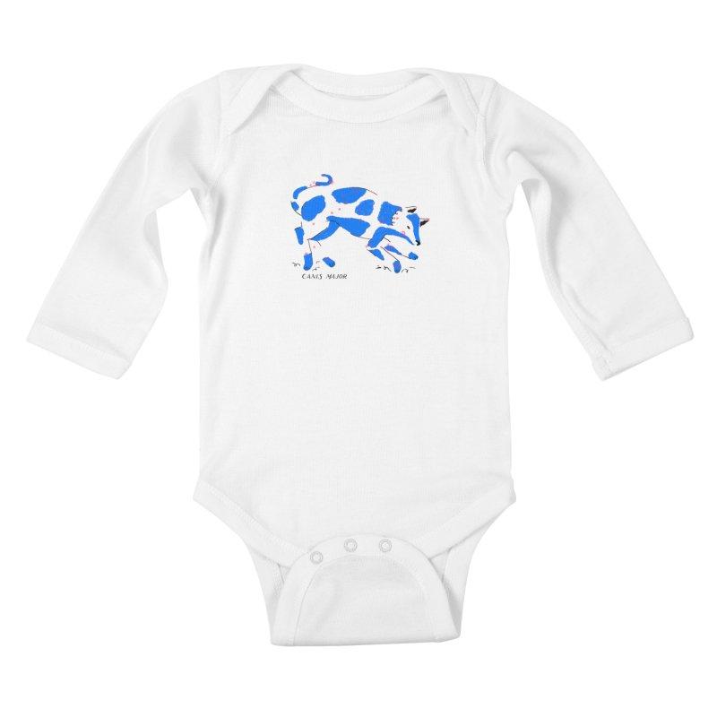 Canis Major Kids Baby Longsleeve Bodysuit by scriptandseal's Artist Shop