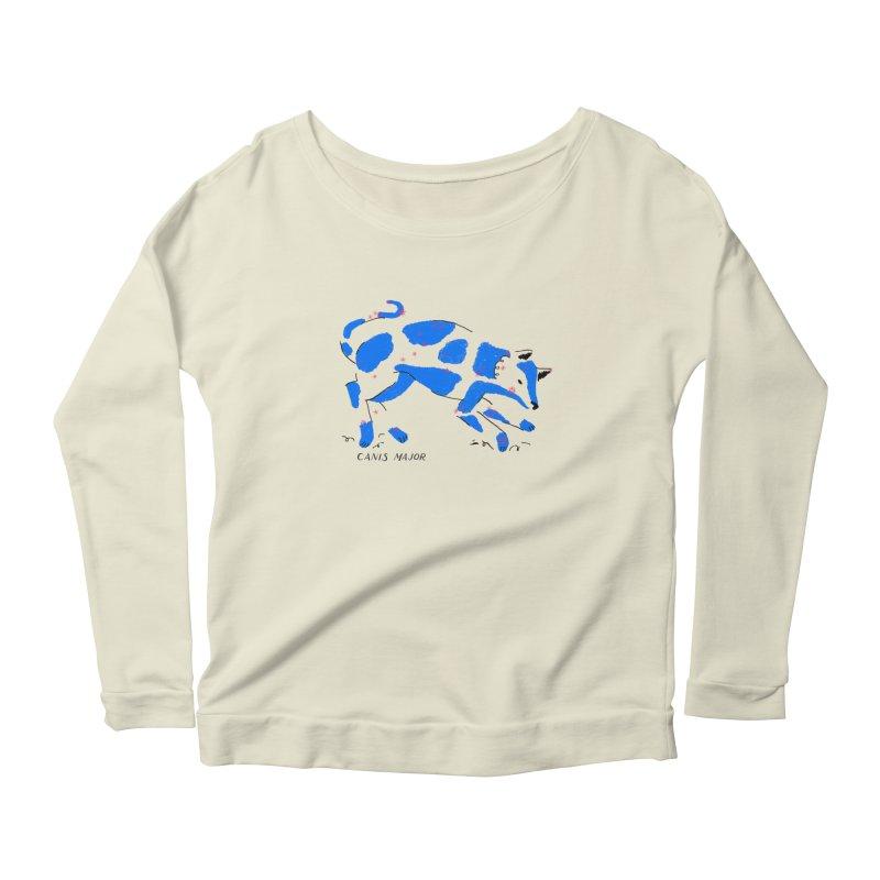 Canis Major Women's Scoop Neck Longsleeve T-Shirt by scriptandseal's Artist Shop