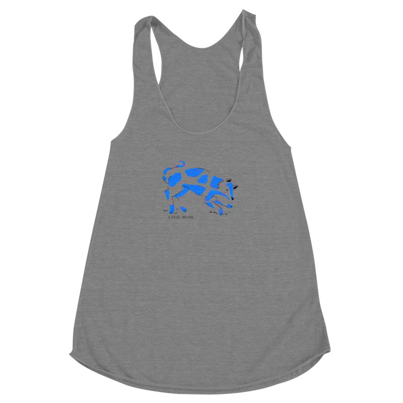 Canis Major Women's Racerback Triblend Tank by scriptandseal's Artist Shop