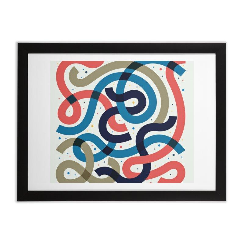 Snakes Home Framed Fine Art Print by scriptandseal's Artist Shop