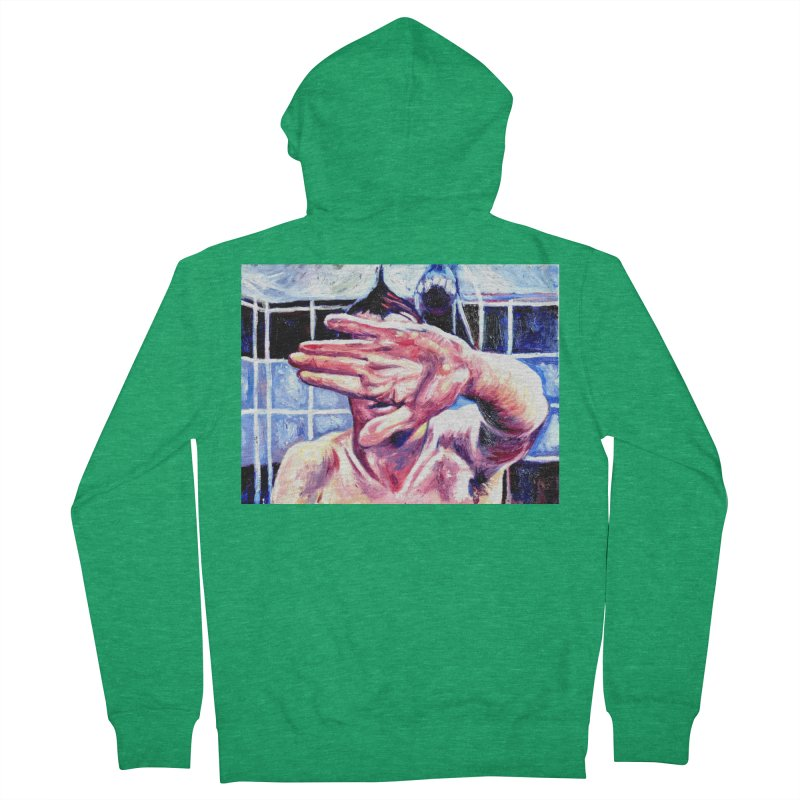 life moves pretty fast Women's French Terry Zip-Up Hoody by paintings by Seamus Wray