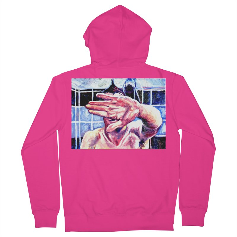 life moves pretty fast Men's French Terry Zip-Up Hoody by paintings by Seamus Wray