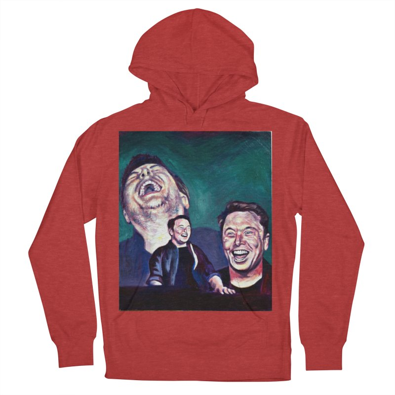 elon4 Women's French Terry Pullover Hoody by paintings by Seamus Wray