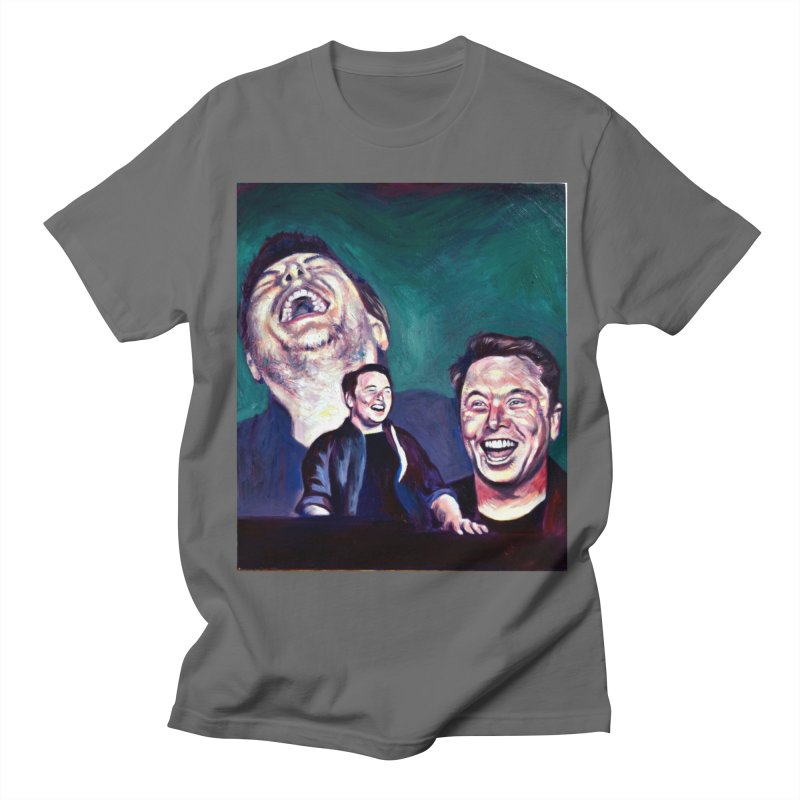 elon4 Men's T-Shirt by paintings by Seamus Wray