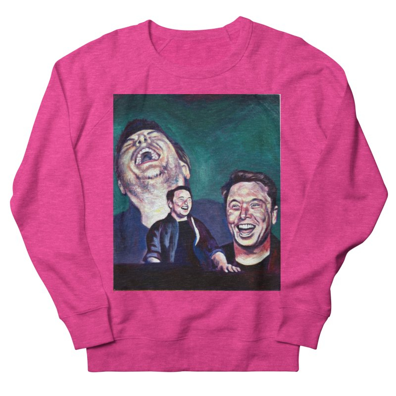 elon4 Men's French Terry Sweatshirt by paintings by Seamus Wray
