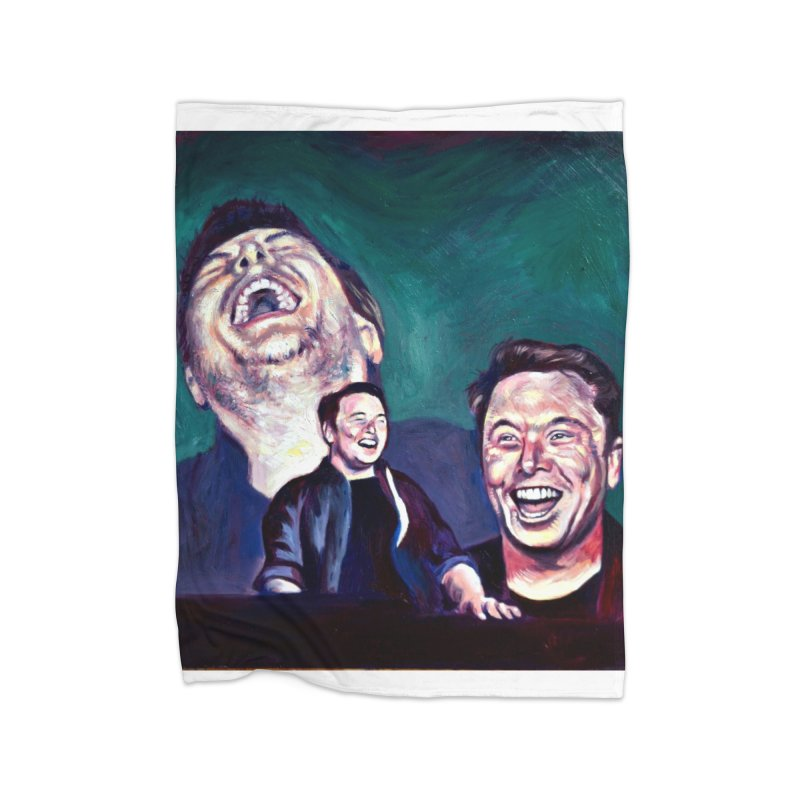 elon4 Home Fleece Blanket Blanket by paintings by Seamus Wray