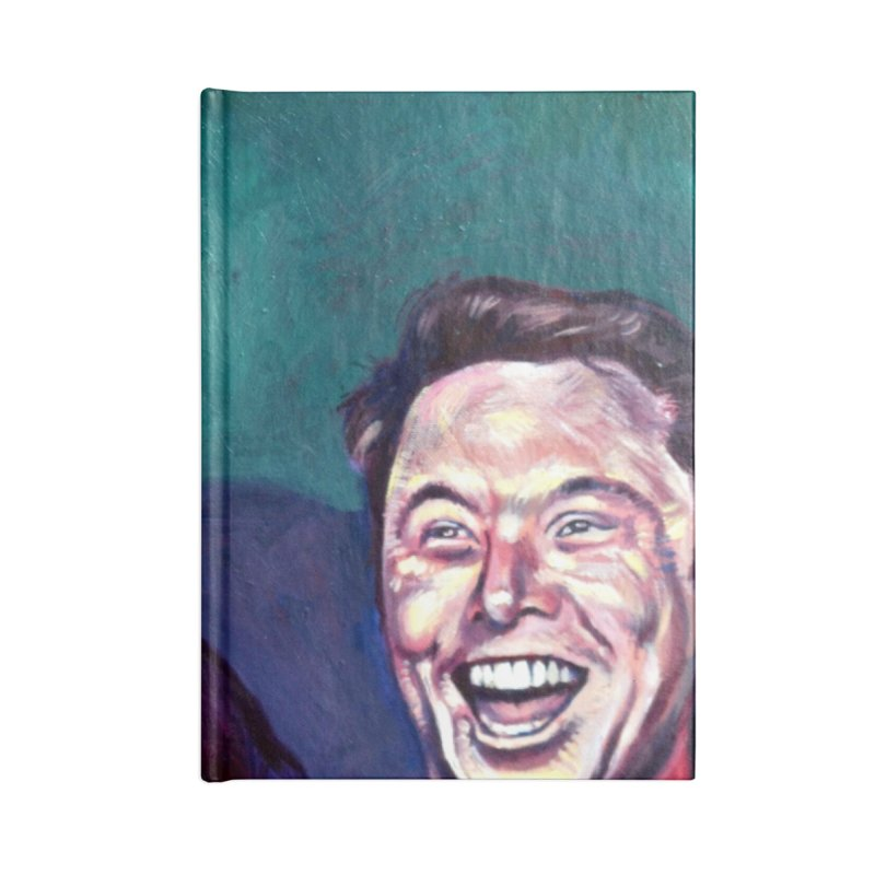 elon4 Accessories Blank Journal Notebook by paintings by Seamus Wray