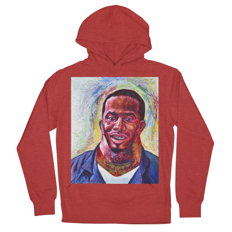 wide Men's French Terry Pullover Hoody by paintings by Seamus Wray
