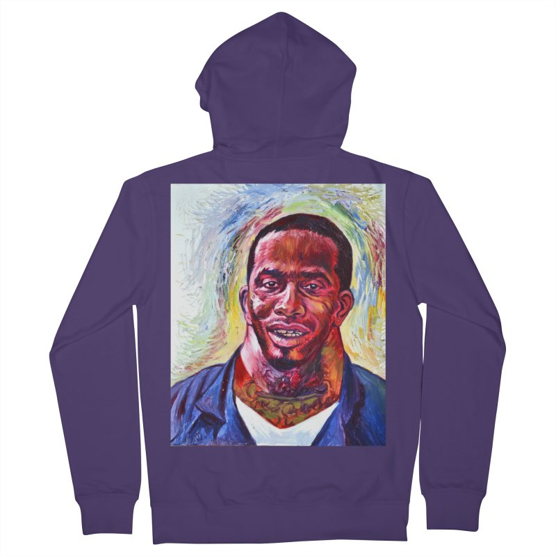 wide Women's French Terry Zip-Up Hoody by paintings by Seamus Wray
