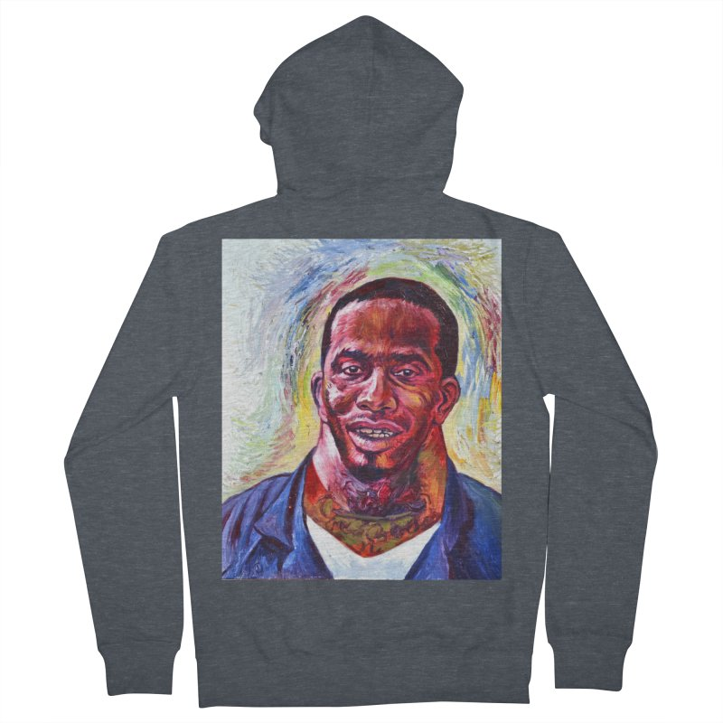 wide Men's French Terry Zip-Up Hoody by paintings by Seamus Wray