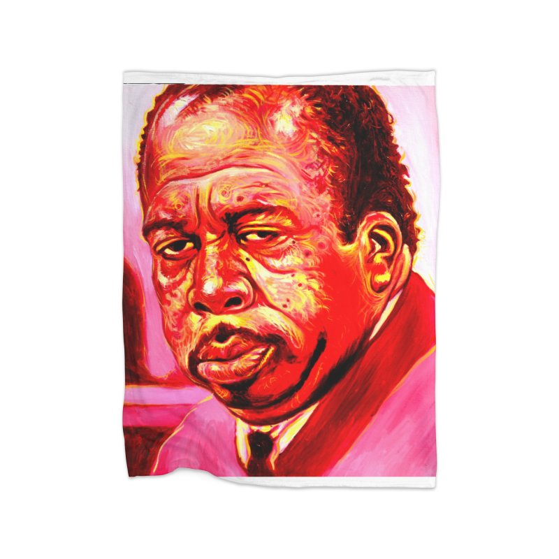 stanley Home Fleece Blanket Blanket by paintings by Seamus Wray