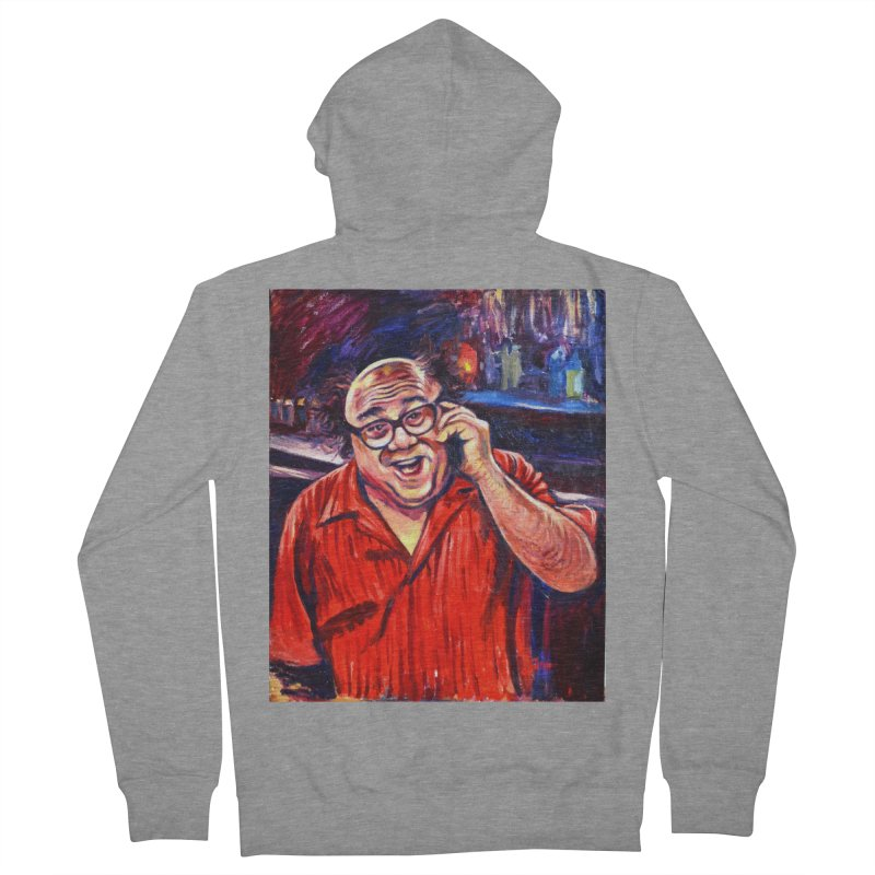 crawling back Women's French Terry Zip-Up Hoody by paintings by Seamus Wray