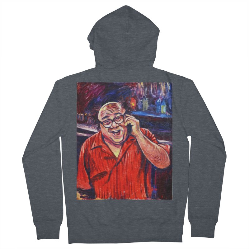 crawling back Men's French Terry Zip-Up Hoody by paintings by Seamus Wray