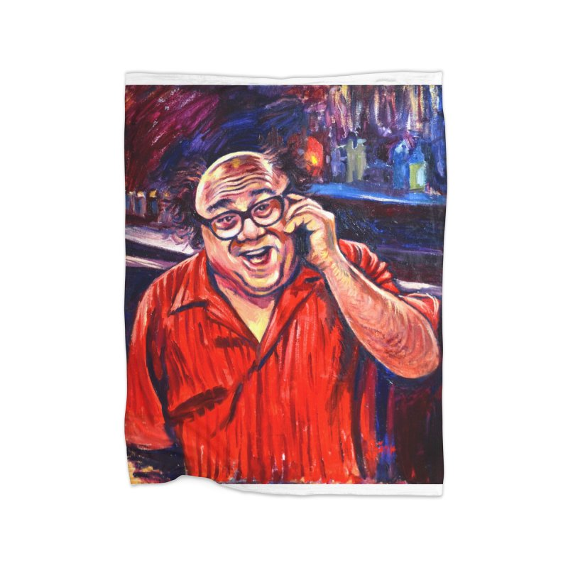 crawling back Home Fleece Blanket Blanket by paintings by Seamus Wray