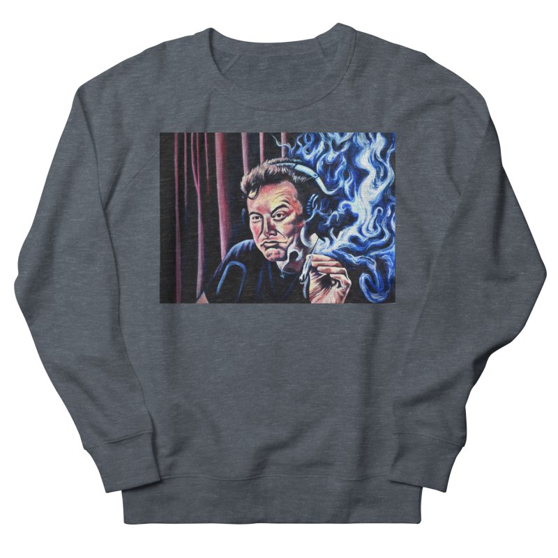 Elon5 Men's French Terry Sweatshirt by paintings by Seamus Wray