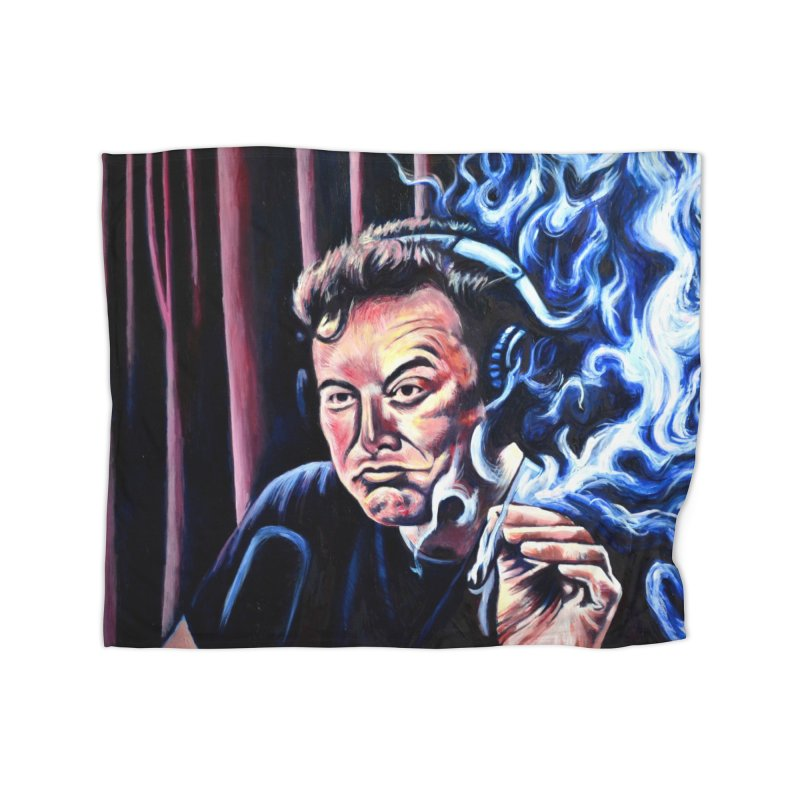 Elon5 Home Fleece Blanket Blanket by paintings by Seamus Wray