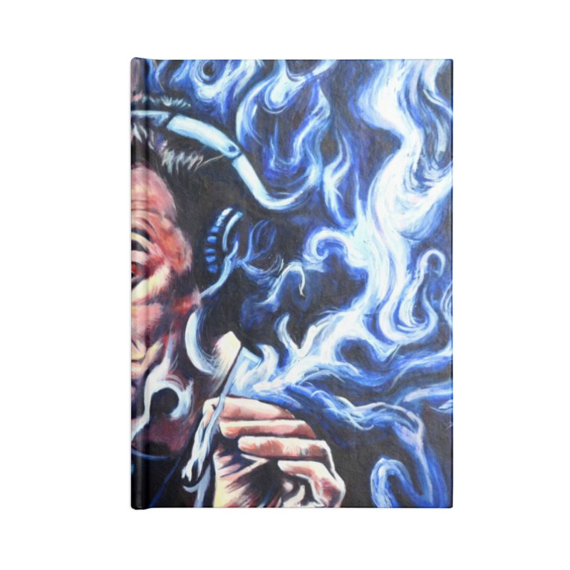 Elon5 Accessories Blank Journal Notebook by paintings by Seamus Wray