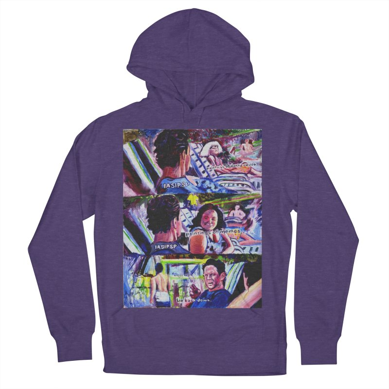 IASIPSP Men's French Terry Pullover Hoody by paintings by Seamus Wray