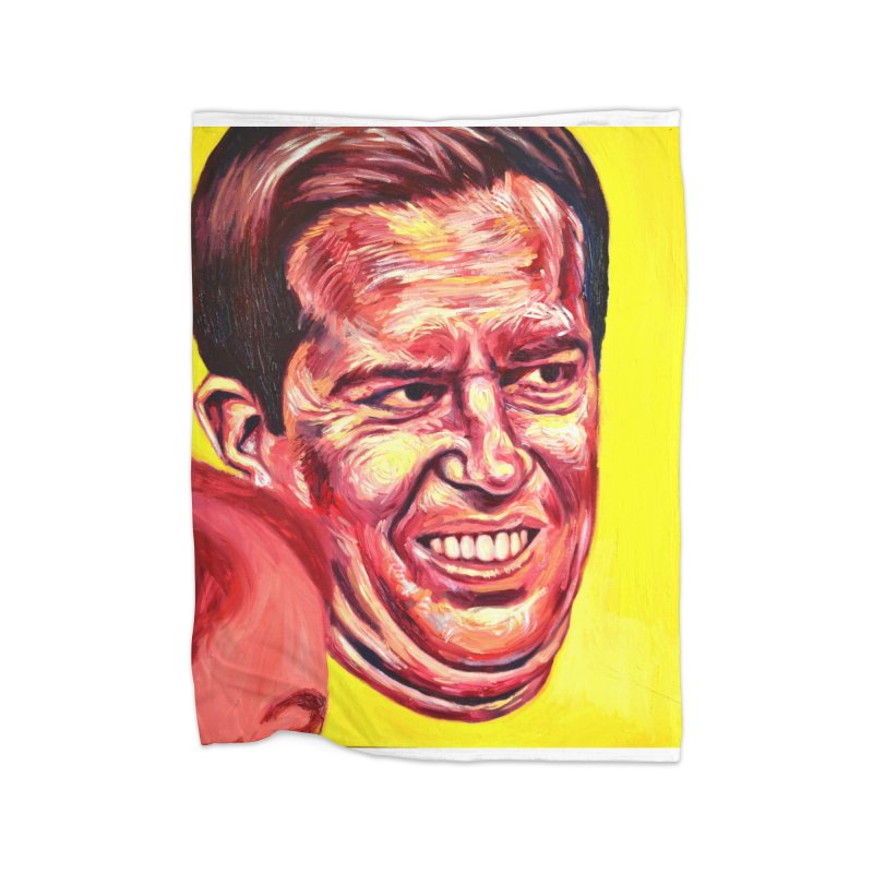 andy Home Fleece Blanket Blanket by paintings by Seamus Wray