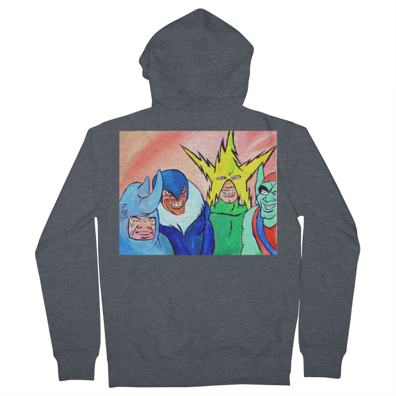 me and the boys Women's French Terry Zip-Up Hoody by paintings by Seamus Wray