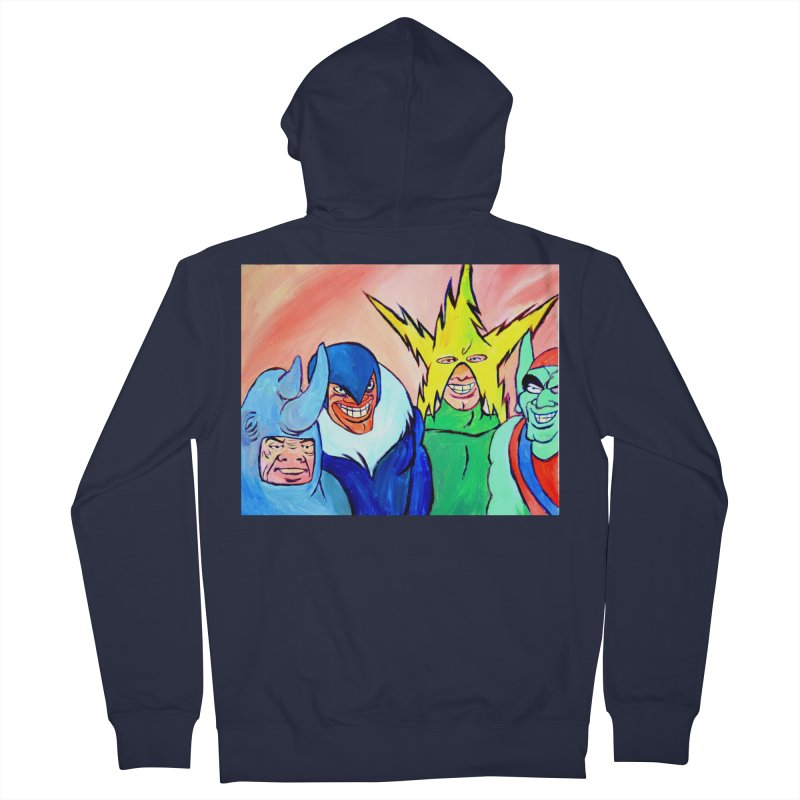 me and the boys Men's French Terry Zip-Up Hoody by paintings by Seamus Wray