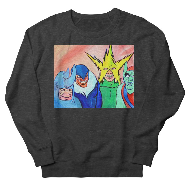 me and the boys Men's French Terry Sweatshirt by paintings by Seamus Wray