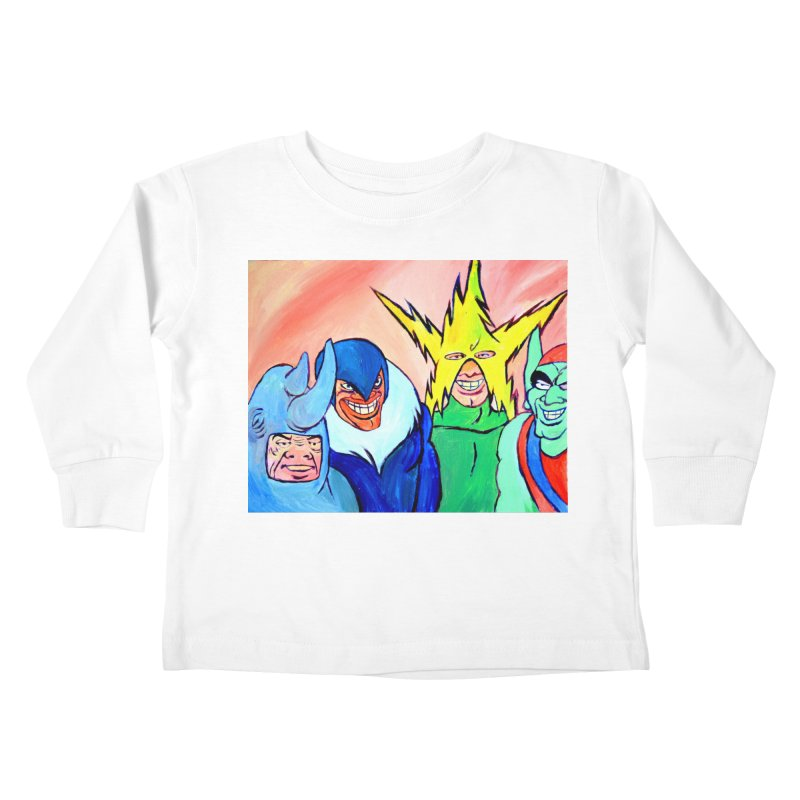 me and the boys Kids Toddler Longsleeve T-Shirt by paintings by Seamus Wray