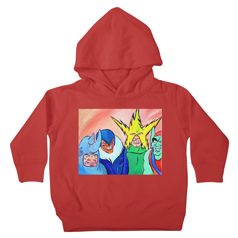 me and the boys Kids Toddler Pullover Hoody by paintings by Seamus Wray