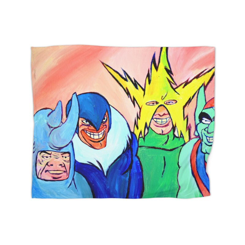 me and the boys Home Fleece Blanket Blanket by paintings by Seamus Wray