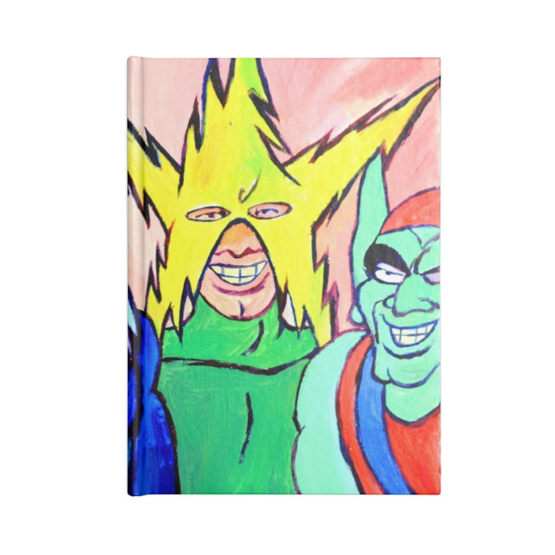 me and the boys Accessories Blank Journal Notebook by paintings by Seamus Wray