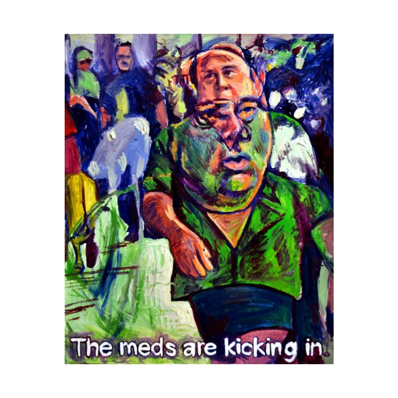 meds are kicking in Home Tapestry by paintings by Seamus Wray