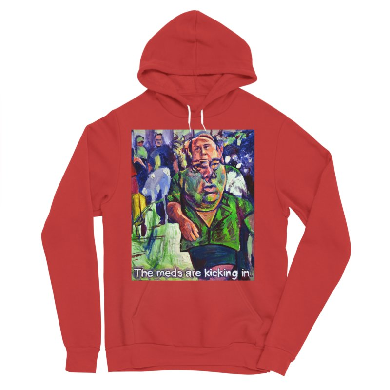 meds are kicking in Men's Pullover Hoody by paintings by Seamus Wray