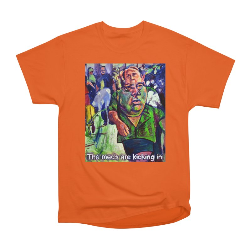 meds are kicking in Men's T-Shirt by paintings by Seamus Wray