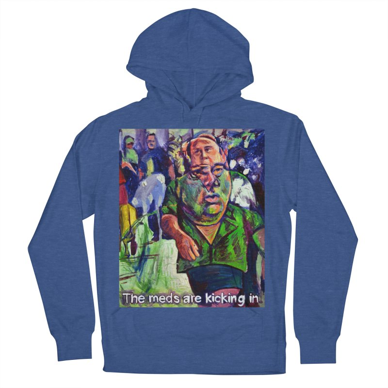 meds are kicking in Women's French Terry Pullover Hoody by paintings by Seamus Wray