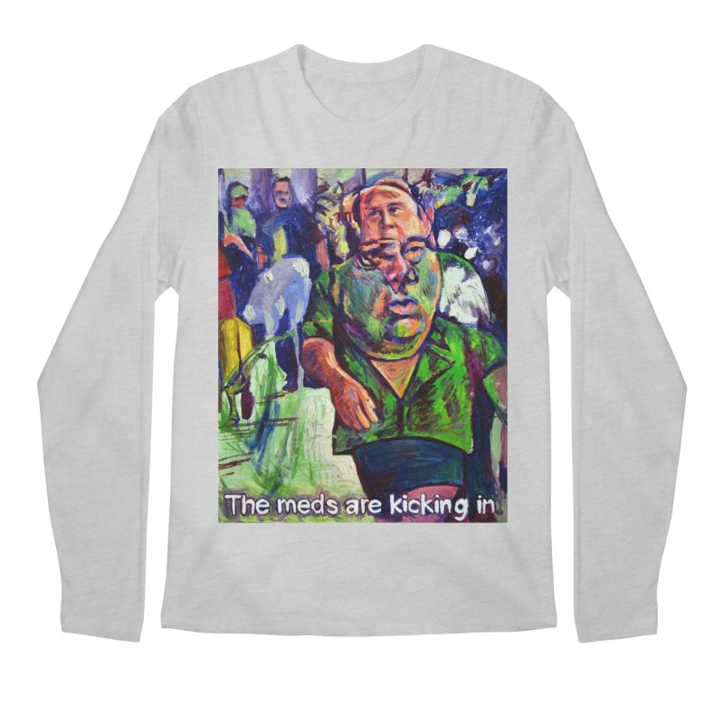 meds are kicking in Men's Regular Longsleeve T-Shirt by paintings by Seamus Wray