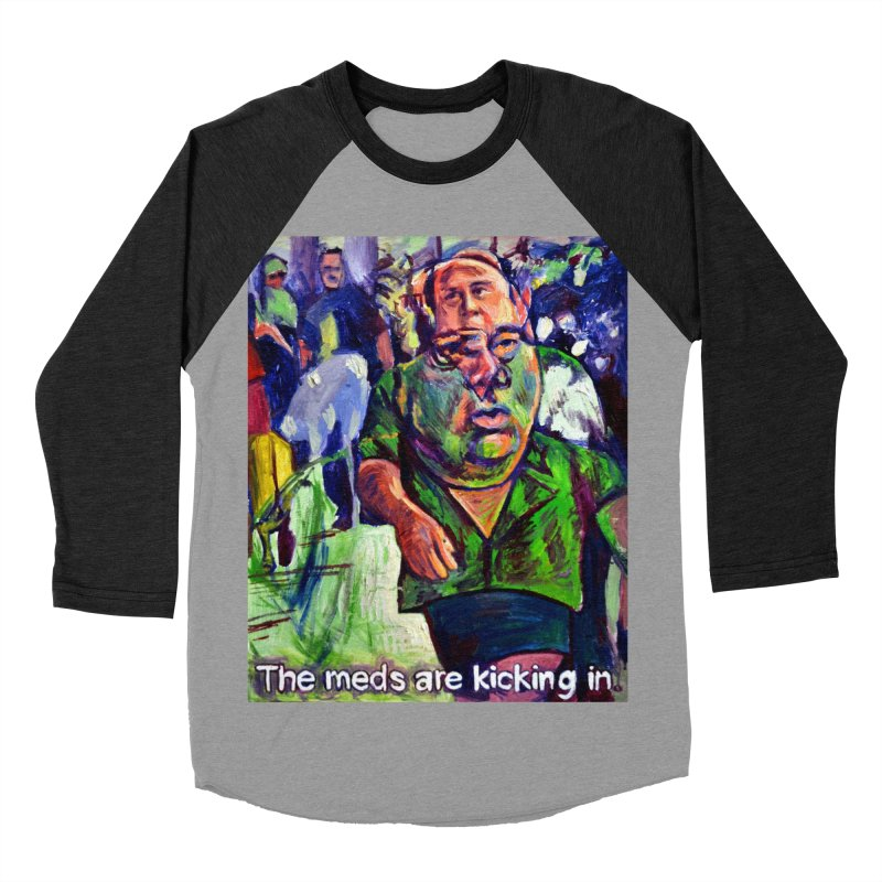 meds are kicking in Women's Baseball Triblend Longsleeve T-Shirt by paintings by Seamus Wray