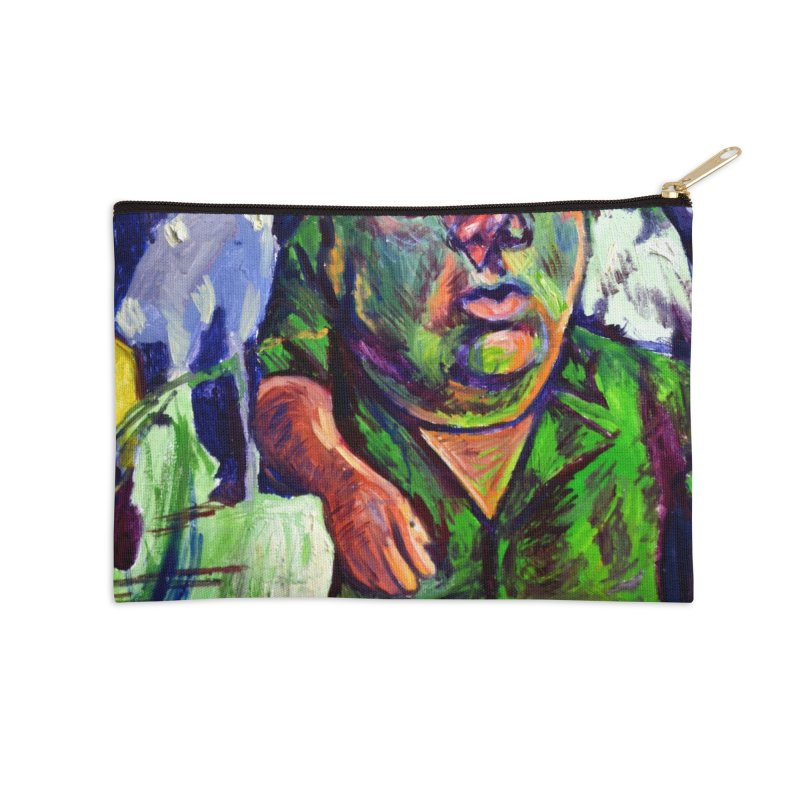 meds are kicking in Accessories Zip Pouch by paintings by Seamus Wray
