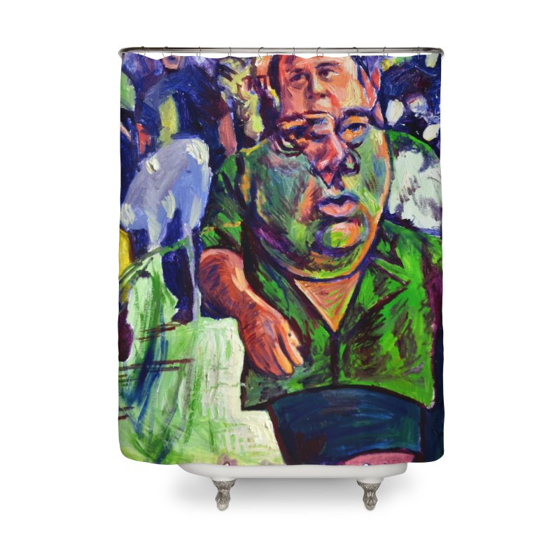 meds are kicking in Home Shower Curtain by paintings by Seamus Wray
