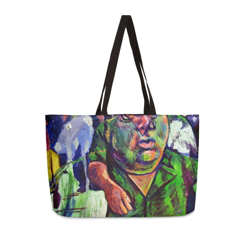 meds are kicking in Accessories Weekender Bag Bag by paintings by Seamus Wray