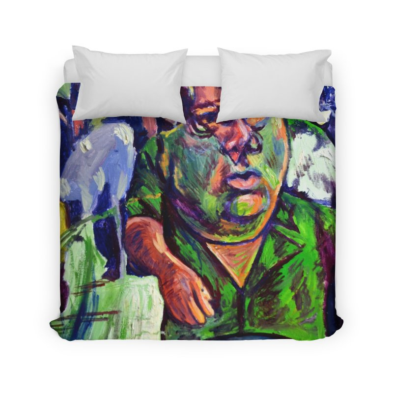 meds are kicking in Home Duvet by paintings by Seamus Wray