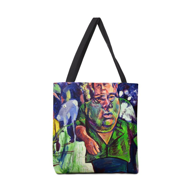 meds are kicking in Accessories Tote Bag Bag by paintings by Seamus Wray