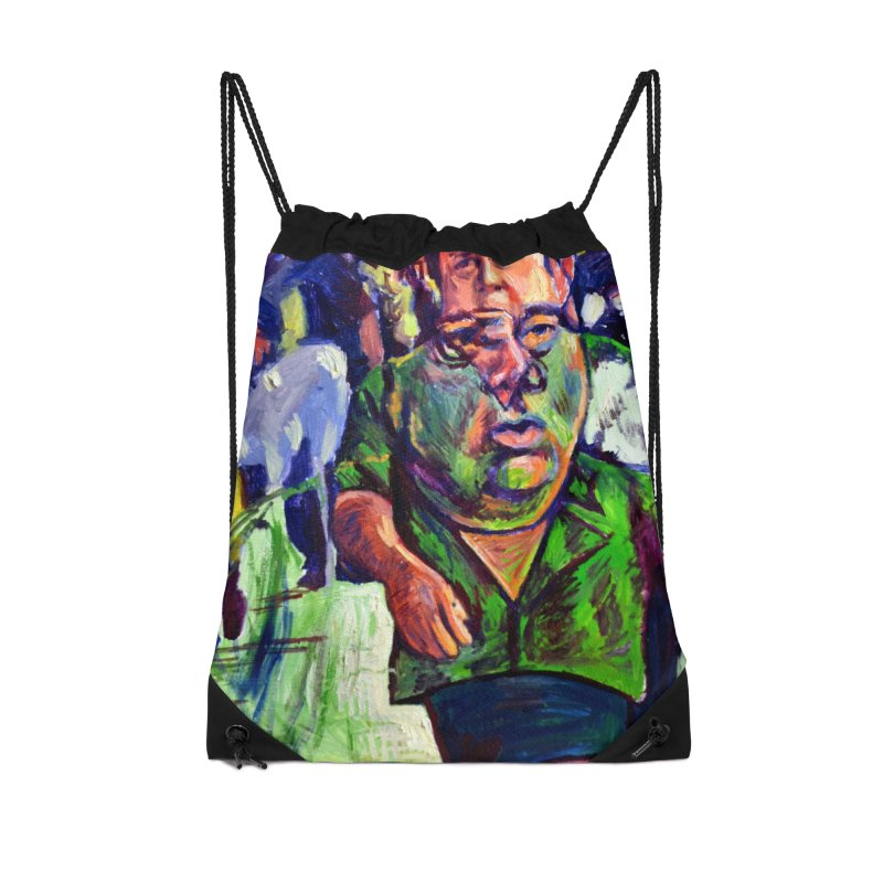 meds are kicking in Accessories Drawstring Bag Bag by paintings by Seamus Wray
