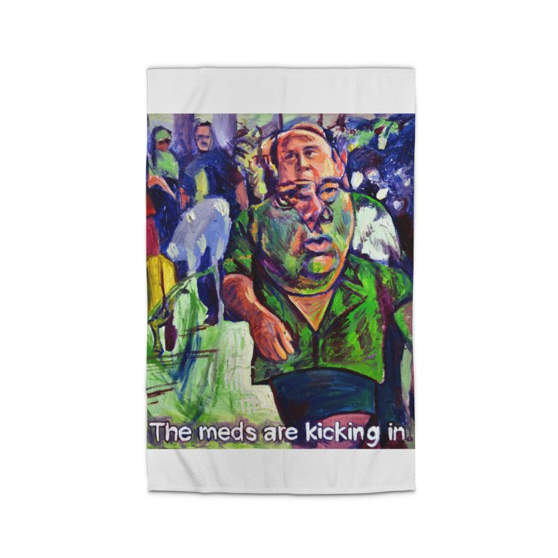 meds are kicking in Home Rug by paintings by Seamus Wray